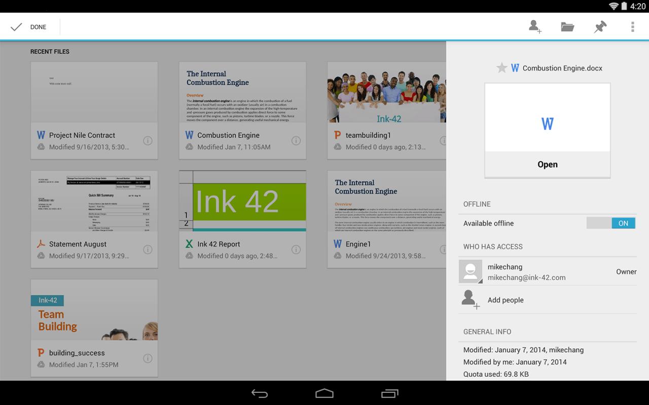 Suite à son intégration à Google Docs, Quickoffice va disparaître du Google Play