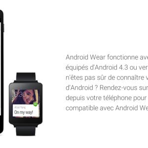 Mon smartphone est-il compatible avec Android Wear ?