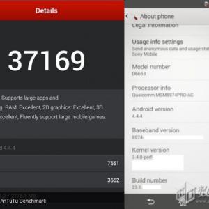 Sony Xperia Z3 : une première sortie remarquée sur AnTuTu