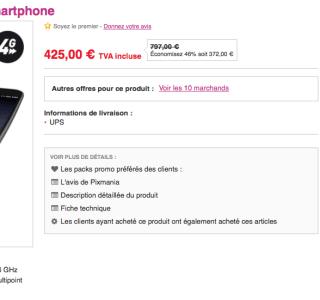 Soldes : le LG G Flex à 425 euros sur Pixmania
