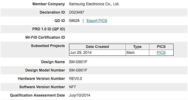 Une certification Bluetooth pour le Samsung Galaxy F ?