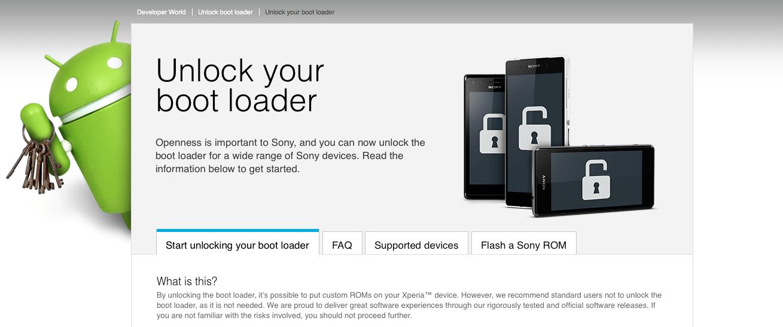 Sony ouvre l'accès au Bootloader pour ses mobiles