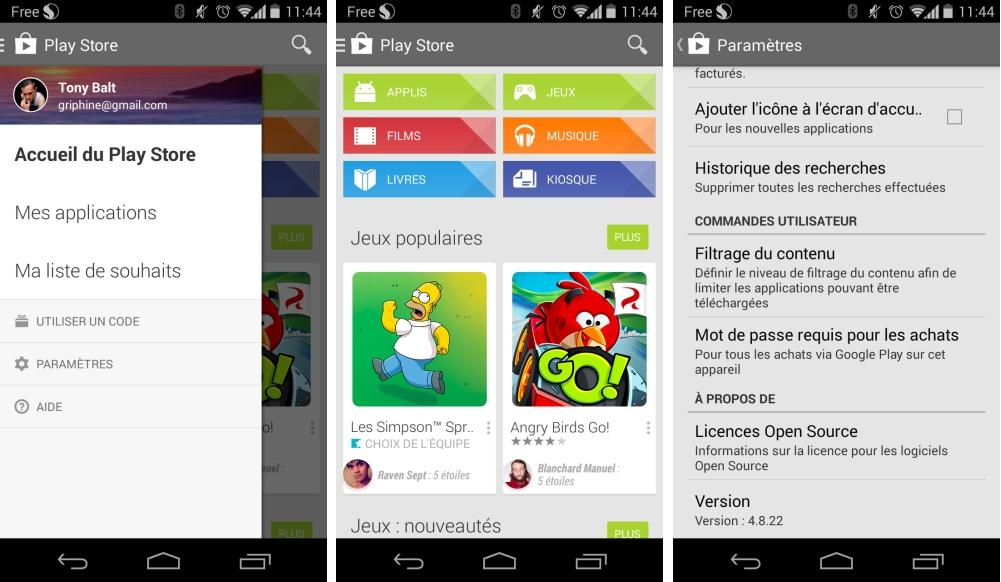 La mise à jour du Google Play Store (4.8.20/4.8.22) mise sur l'ergonomie
