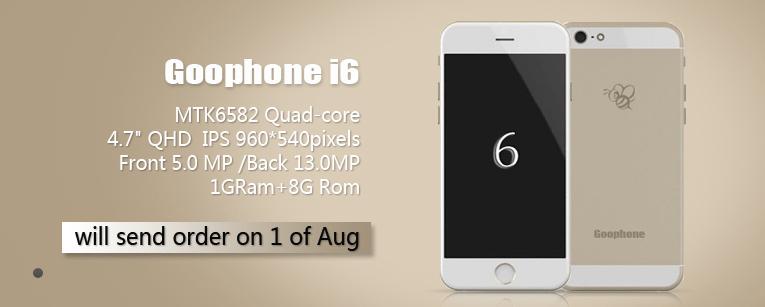 Goophone annonce le Goophone i6, une copie de l'iPhone 6