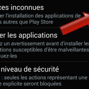 Comment autoriser les sources inconnues sur Android ?