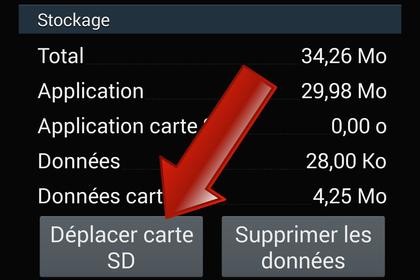 Comment déplacer une application sur la carte MicroSD ?