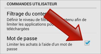 Comment interdire l'achat d'applications sur le Google Play ?