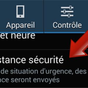 Comment activer l'assistance sécurité sur Samsung Galaxy ?