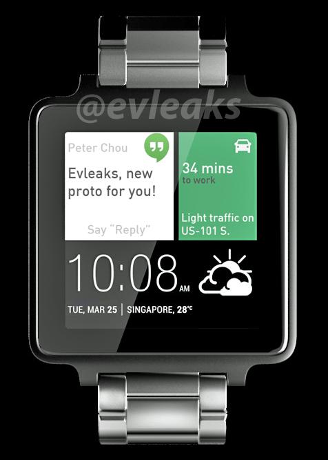 Un premier aperçu de la montre connectée sous Android Wear de HTC