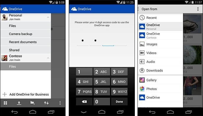 Microsoft met à jour son application mobile OneDrive