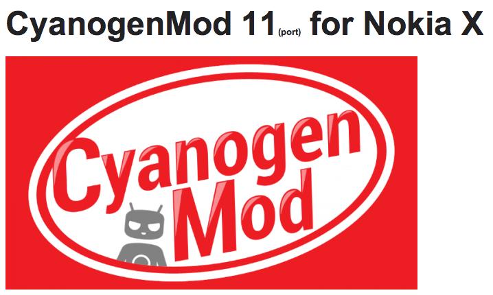 CyanogenMod fait son entrée sur le Nokia X !