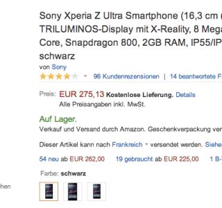 Bon plan : Sony Xperia Z Ultra à 277 euros