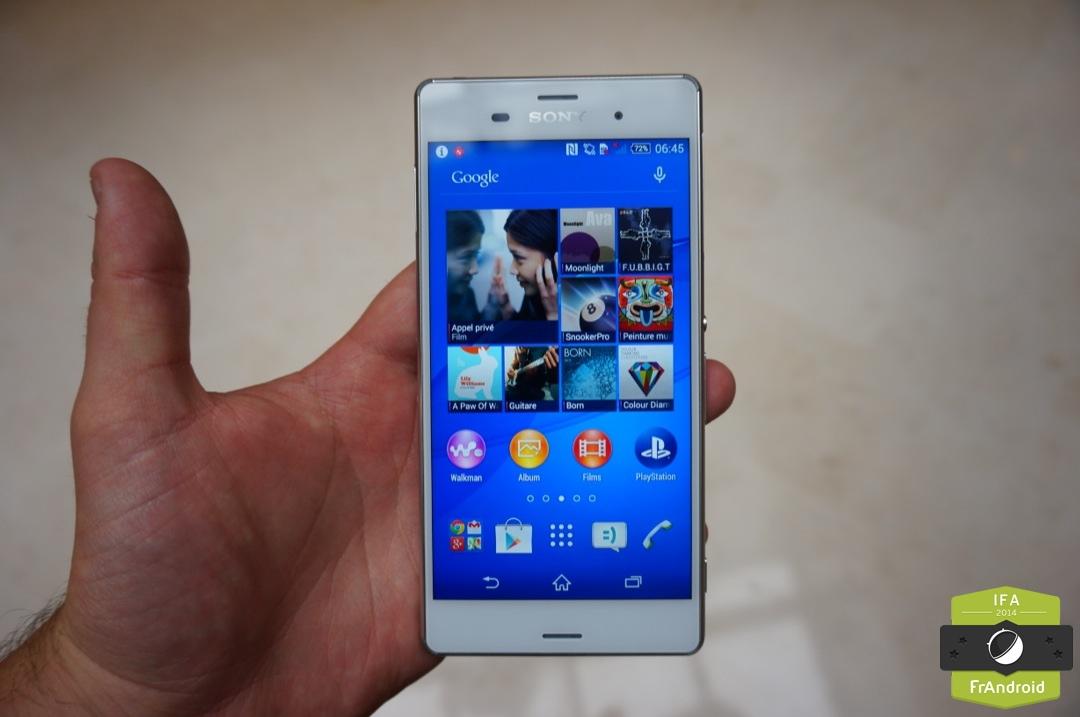 Prise en main du Sony Xperia Z3, a-t-il les armes face à l'iPhone 6 ?