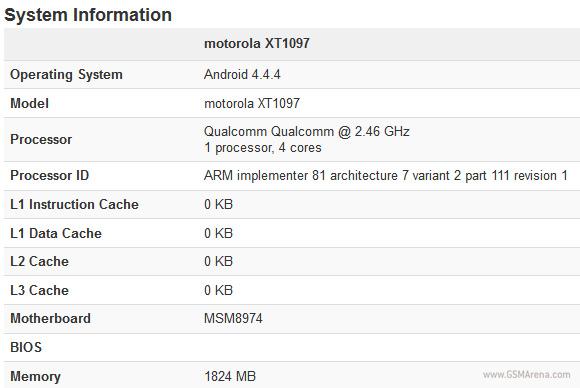 Moto X+1 : un nouveau benchmark en fuite