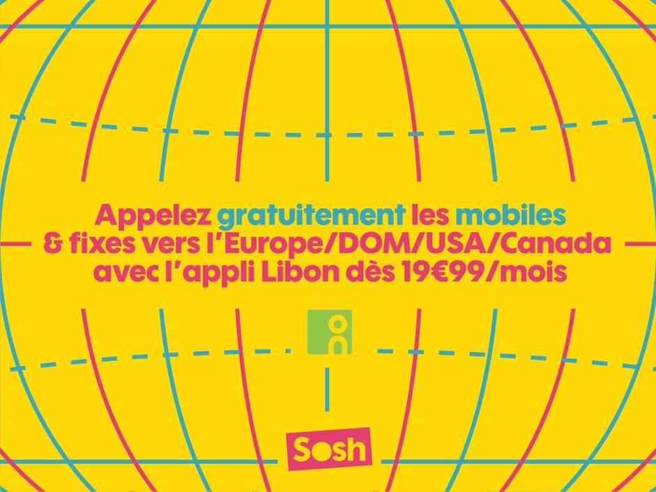 Sosh : les appels vers l'Europe, les DOM et l'Amérique du Nord gratuits