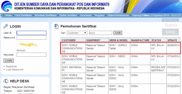 Sony : une nouvelle Xperia Tablet repérée sur des documents indonésiens ?