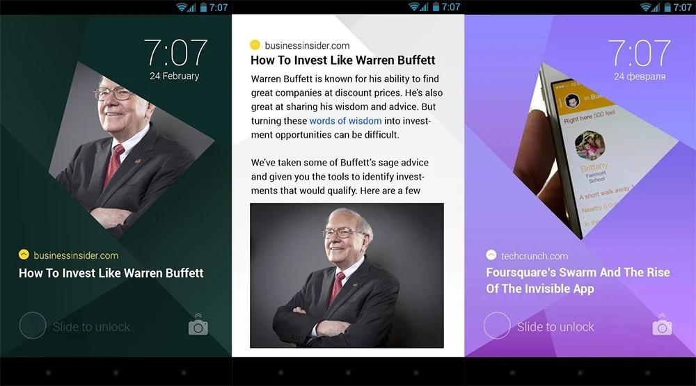 Transformez votre écran de verrouillage en flux d'actualités !