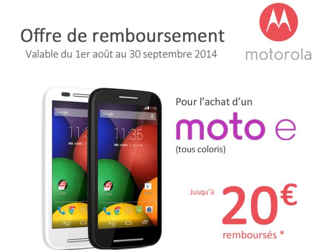 Bon plan : Motorola Moto E à 70 euros