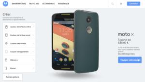 Moto X (2014) : Moto Maker est disponible en France