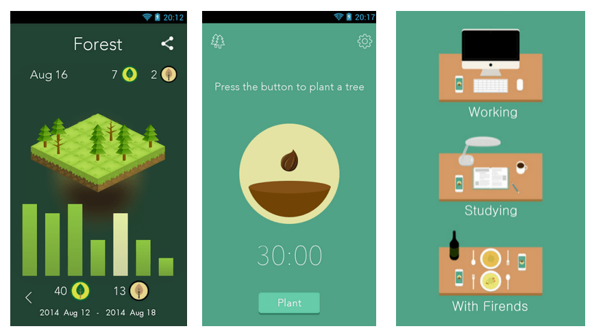 Forest, l'application pour rester concentré