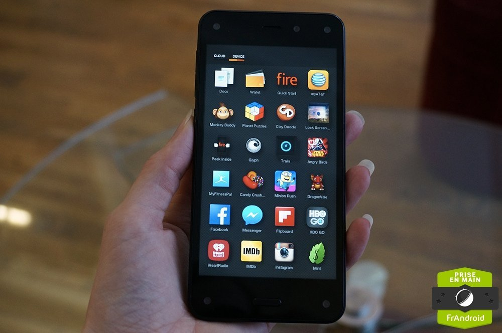 Prise en main de l'Amazon Fire Phone, aux portes de l'Hexagone