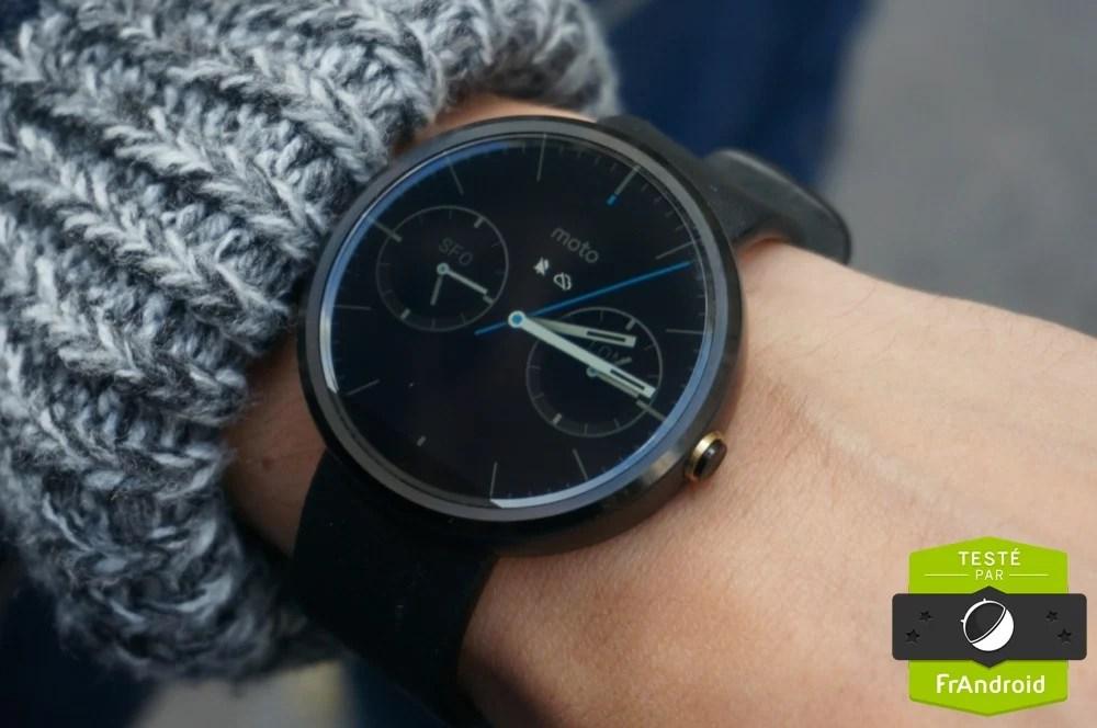 Test de la Motorola Moto 360, une pièce d'horlogerie connectée