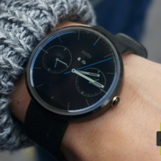 Test of the Motorola Moto 360, a connected timepiece