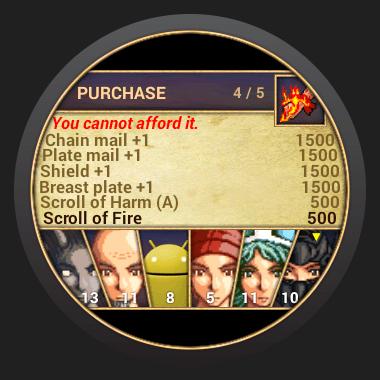 Castle Wear pour Android Wear, un RPG accessible même sur des montres rondes