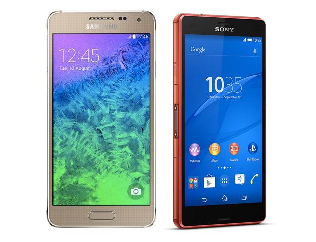 Samsung Galaxy Alpha vs Sony Xperia Z3 Compact : sous les 5 pouces, lequel choisir ?