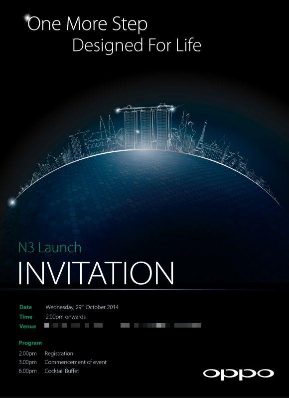 L'Oppo N3 sera présenté le 29 octobre prochain