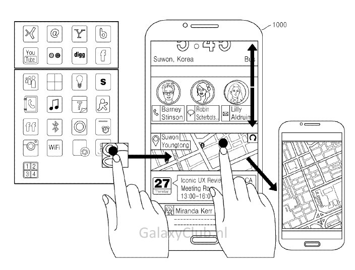 Iconic UX : un brevet en dit plus sur la future interface Android de Samsung