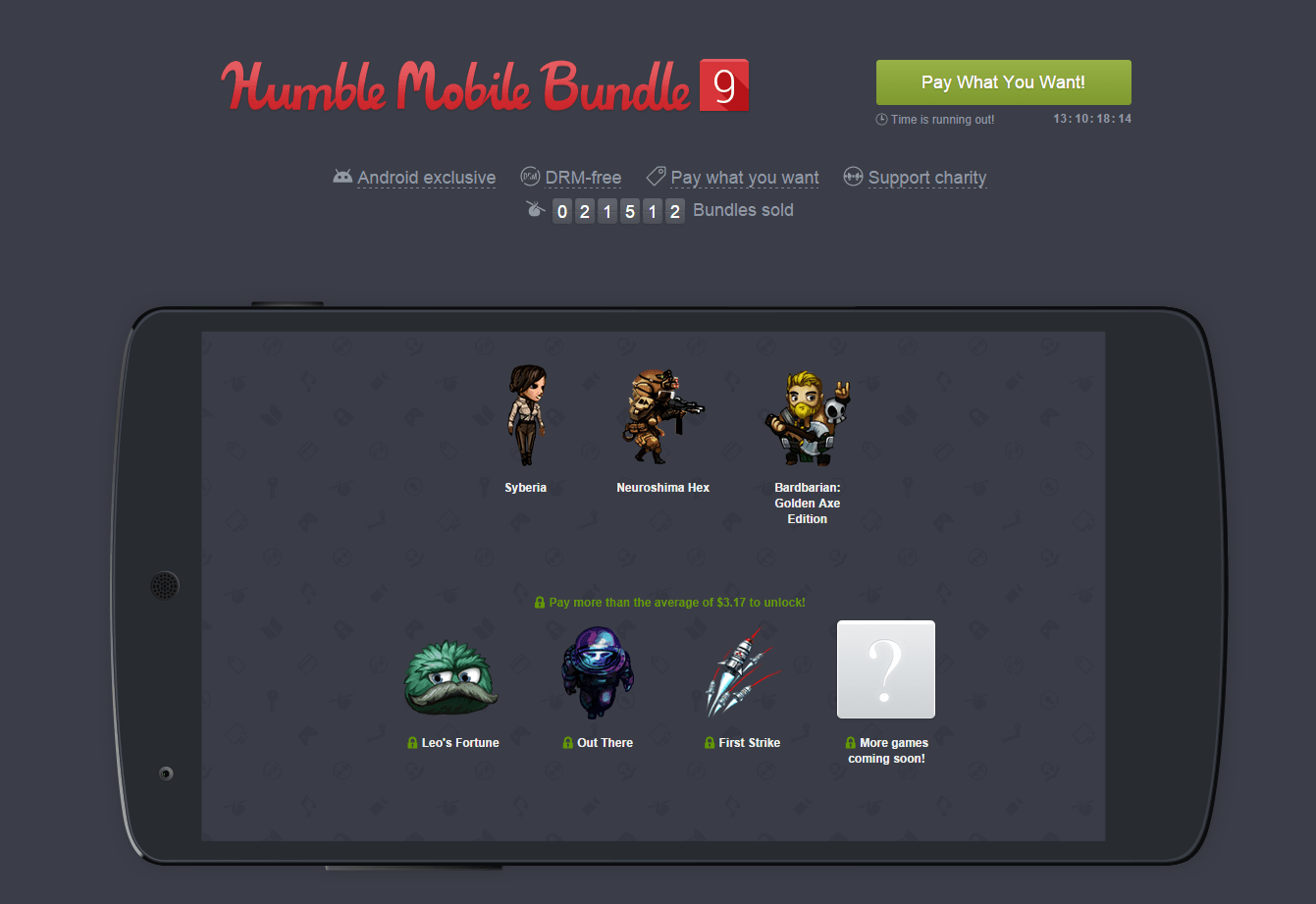 Humble Mobile Bundle 9 : le grand cru du mois d'octobre