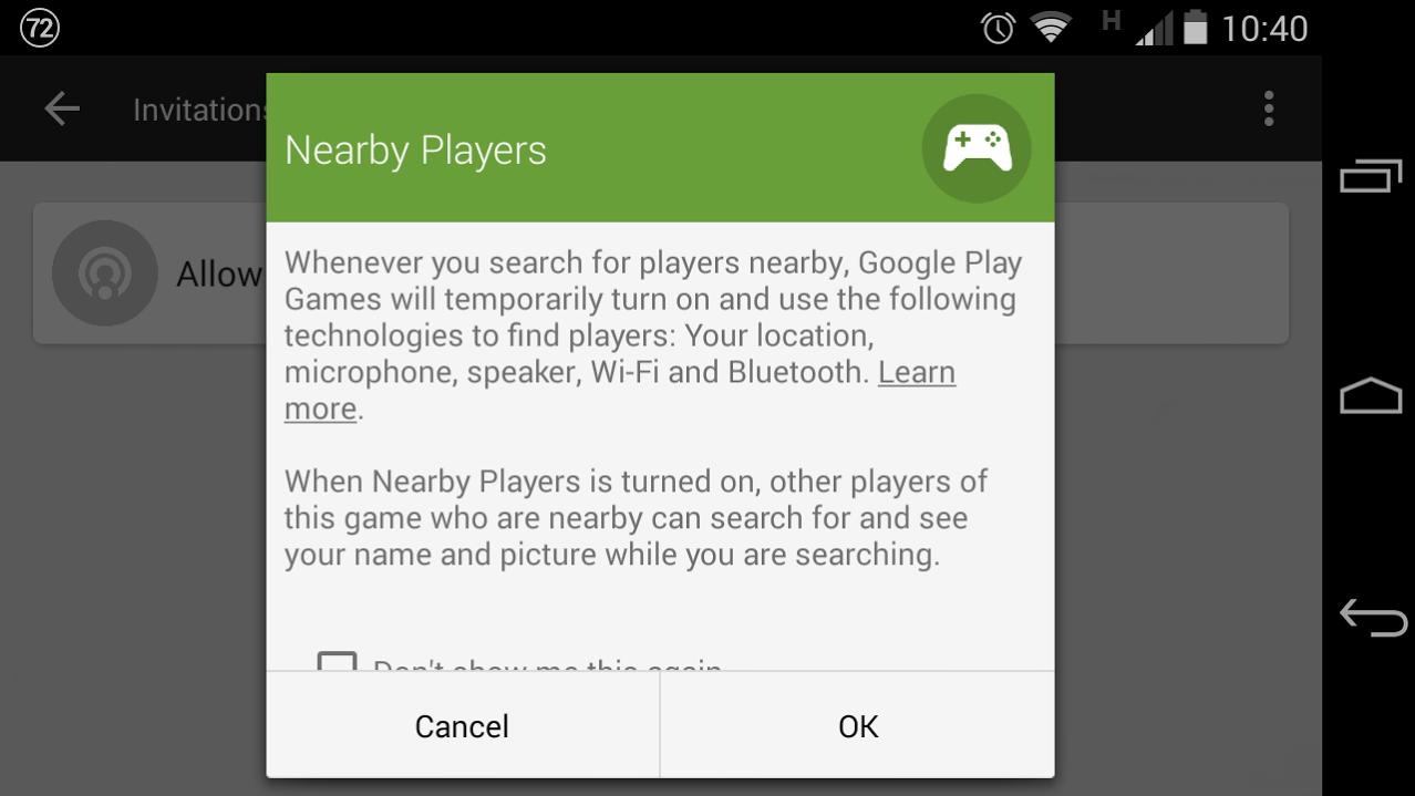 Google Play Jeux «Joueurs proches» : le multijoueur géolocalisé
