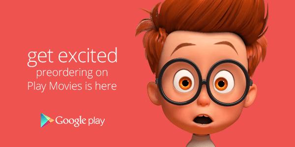 Sur le Google Play, les précommandes concernent aussi les films