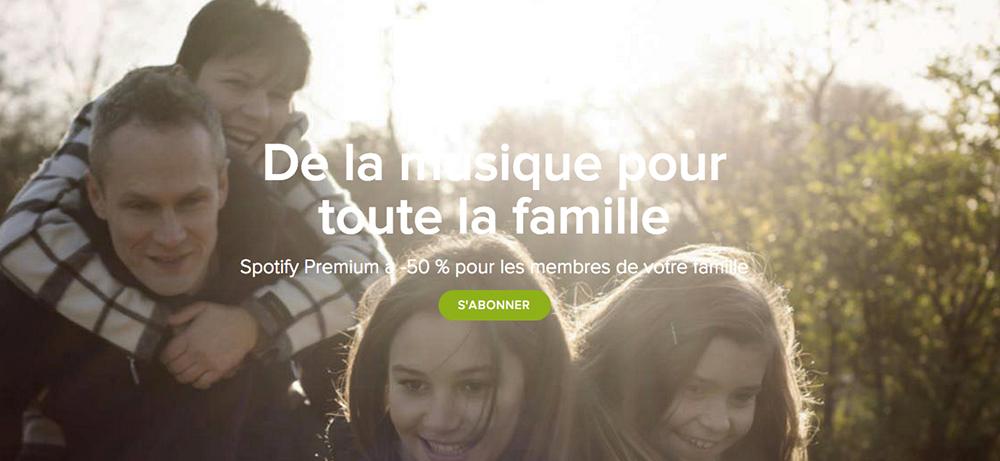 Spotify crée des abonnements dédiés aux familles