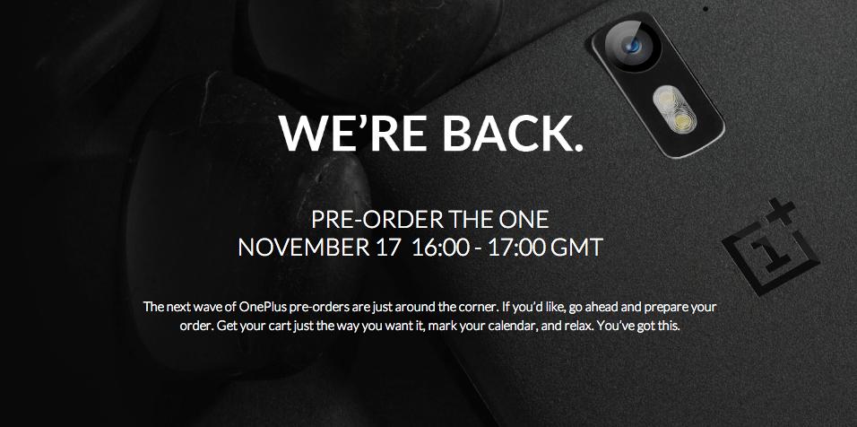OnePlus One : la prochaine vente flash est planifiée