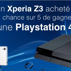 Un Xperia Z3 acheté = 1 chance sur 5 de gagner une PS4