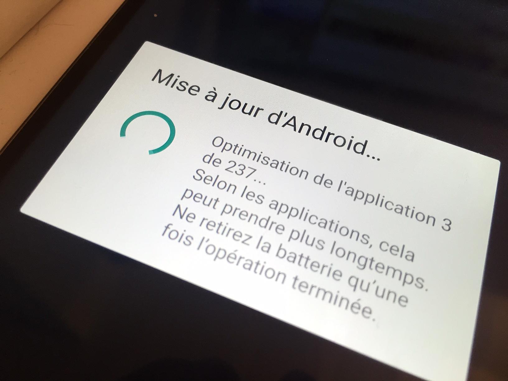Android N : l'optimisation des applications après une mise à jour est maintenant beaucoup plus rapide