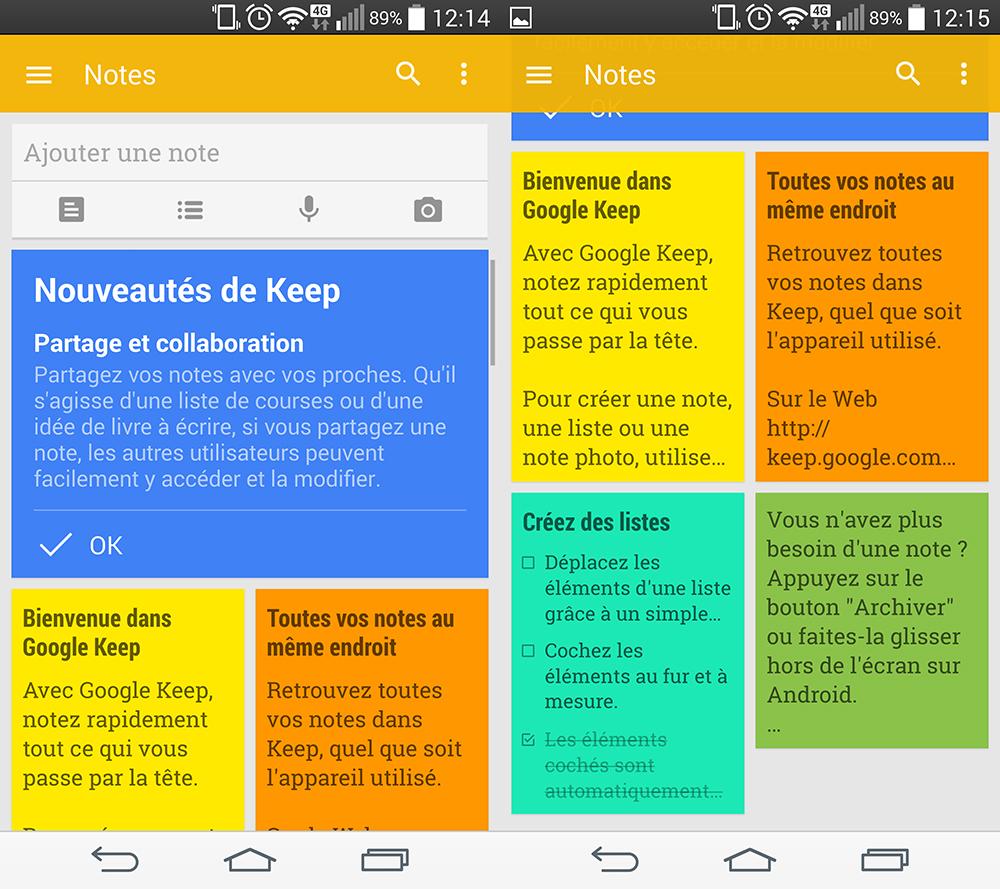 Google Keep se met à jour et devient collaboratif