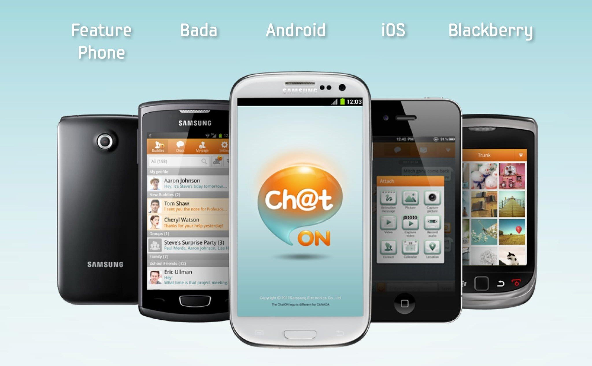 Samsung va fermer le service de messagerie ChatOn