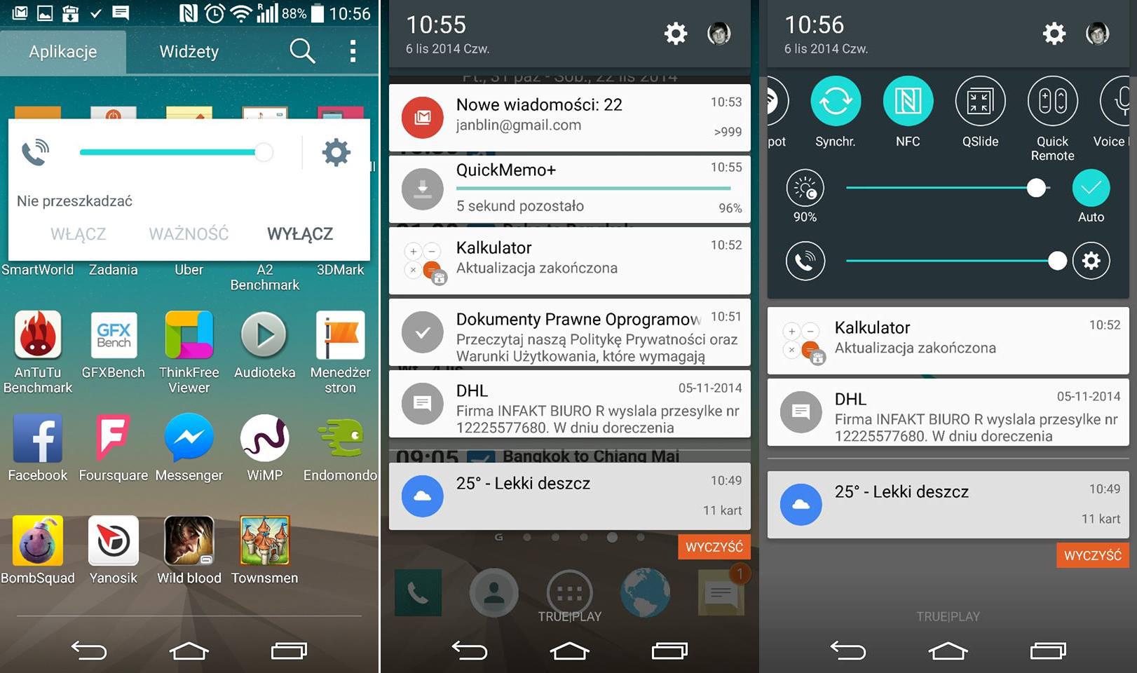 Déjà un aperçu du LG G3 sous Android Lollipop