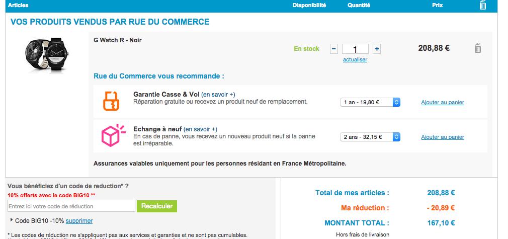 Bon plan : LG G Watch R à 167 euros sur RueDuCommerce