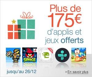 Le Pack de Noël : 175 euros d'applications offerts sur Amazon !