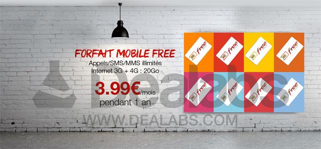 Bon plan : Free Mobile revient avec son forfait 4G à 3,99 euros par mois