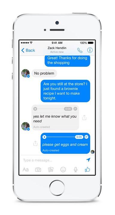Facebook Messenger : la transcription écrite des messages audio est pour bientôt