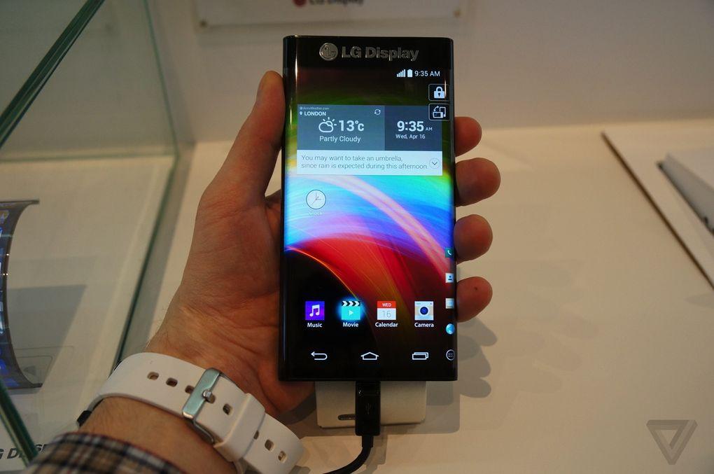 LG Active Display : photos et précisions sur ce smartphone à l'écran doublement courbé