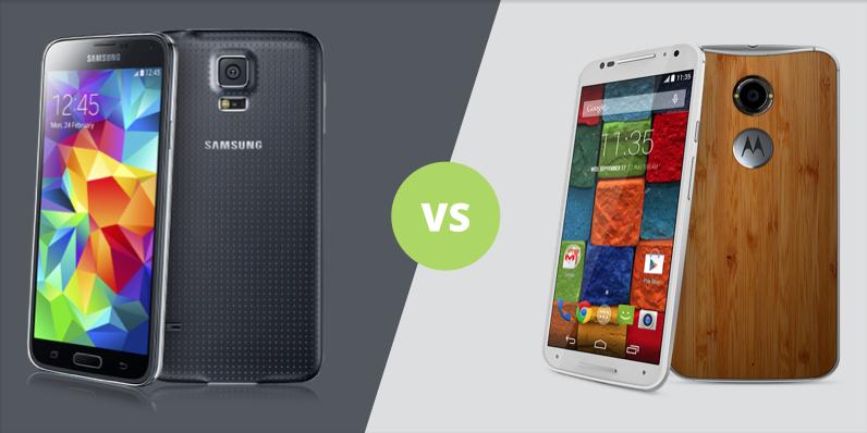 Galaxy S5 vs Moto X 2014 : lequel a votre préférence ? Les deux sont en promotion !
