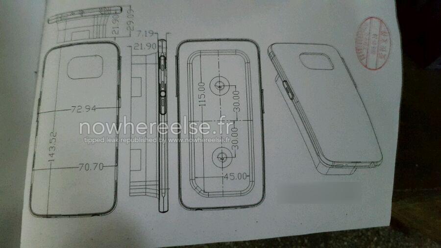 Les dimensions du Samsung Galaxy S6 apparaissent en ligne : la minceur au programme