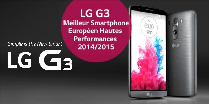 Soldes : le LG G3 à 345 eurosaujourd'hui seulement