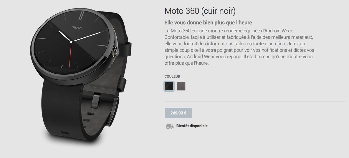 La Moto 360 attend son heure sur le Play Store